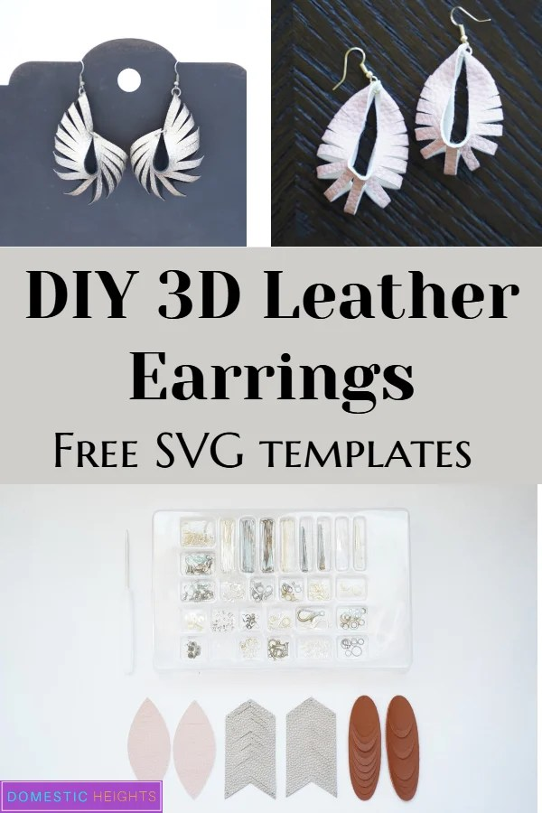 Cricut leather earring templates