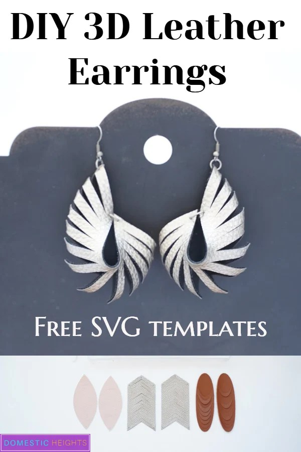 Faux leather earring SVGs