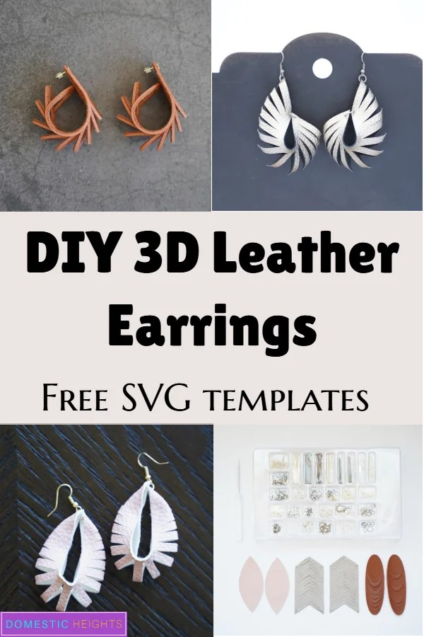 how to make leather earrings with the cricut
