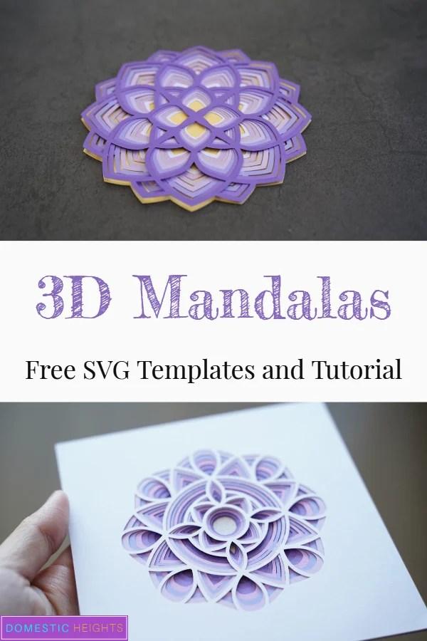 3D Mandala Cricut Project