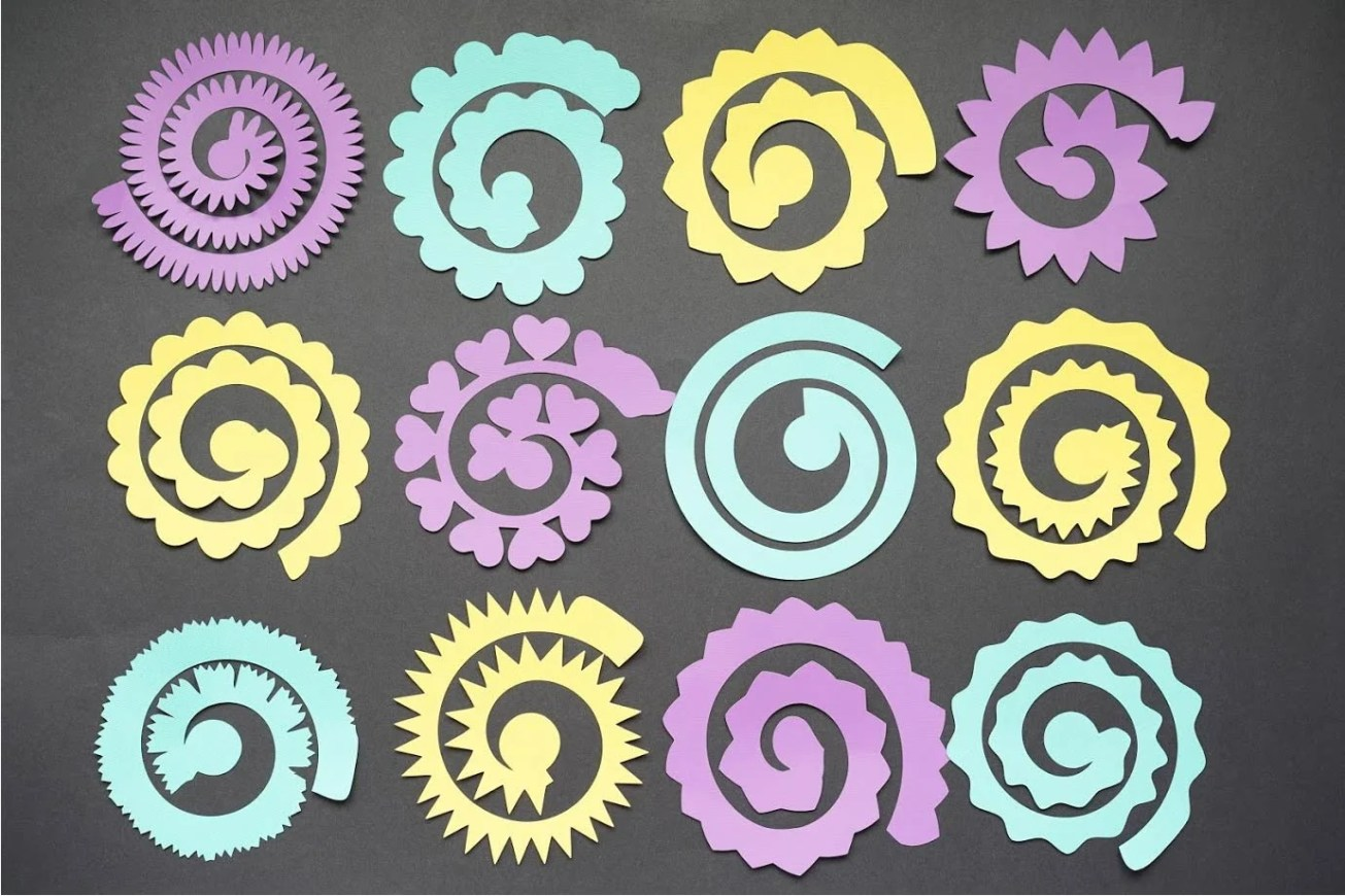 Download 12 Free Rolled Flower SVG Templates