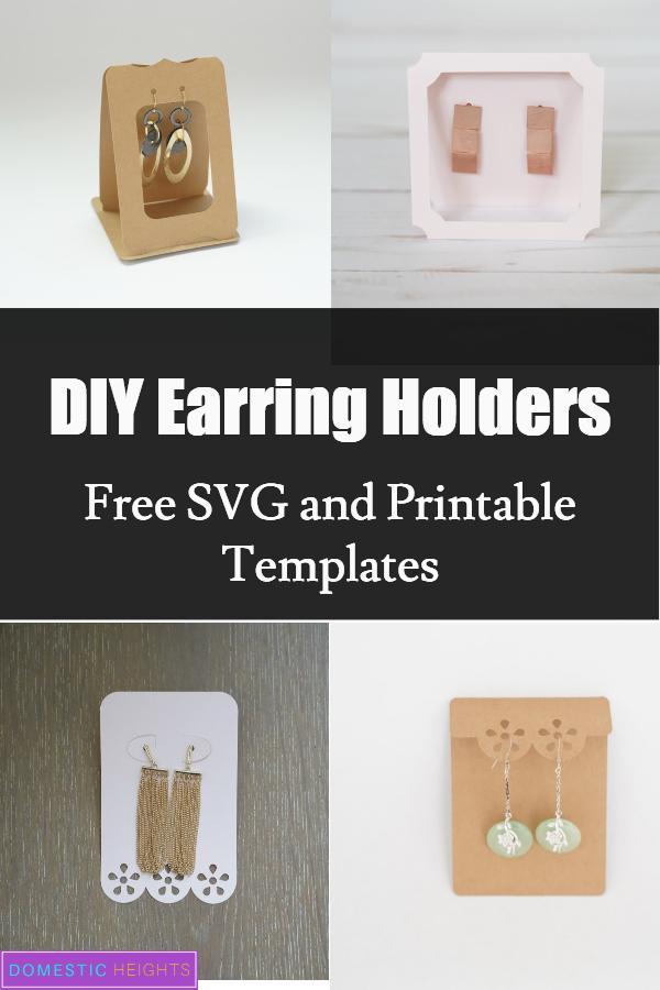 DIY earring holder display