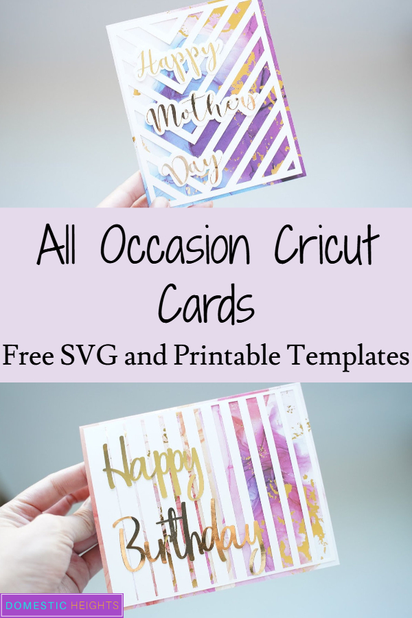 Mother's day cricut cards