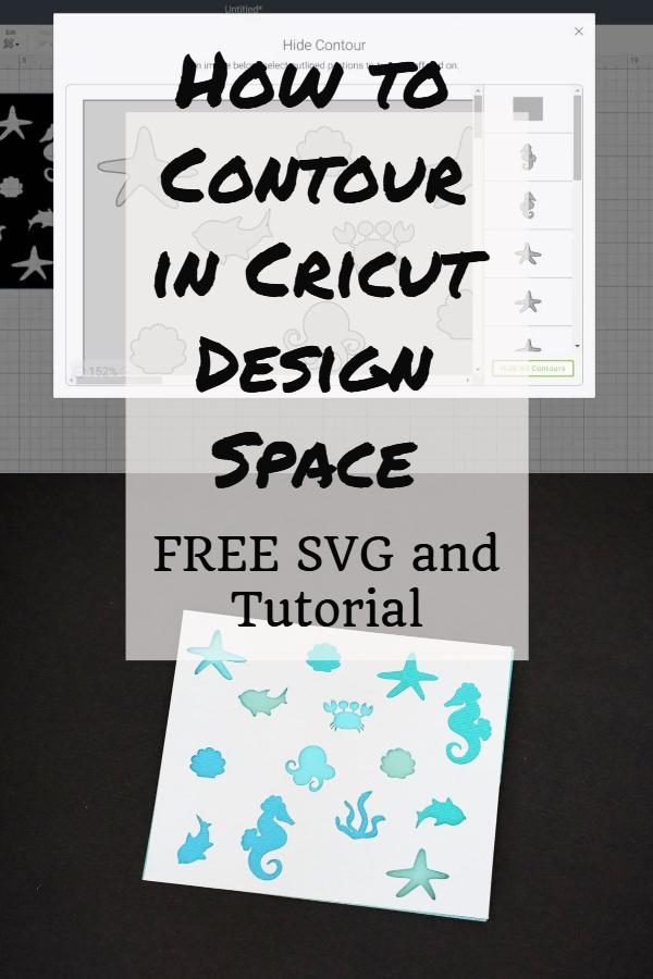 how to contour in Cricut design space