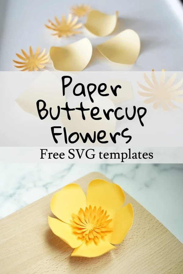 DIY paper buttercup flower