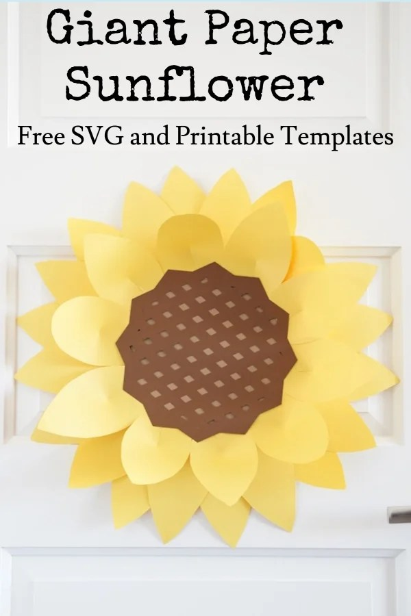 giant paper sunflower template