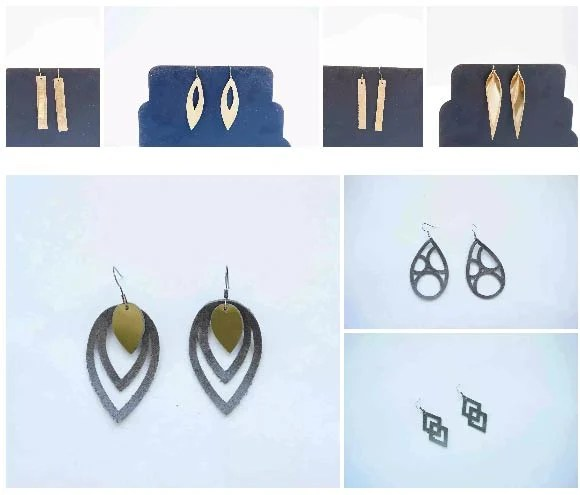 free svg earring templates