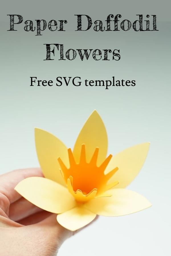 paper daffodil flower svg