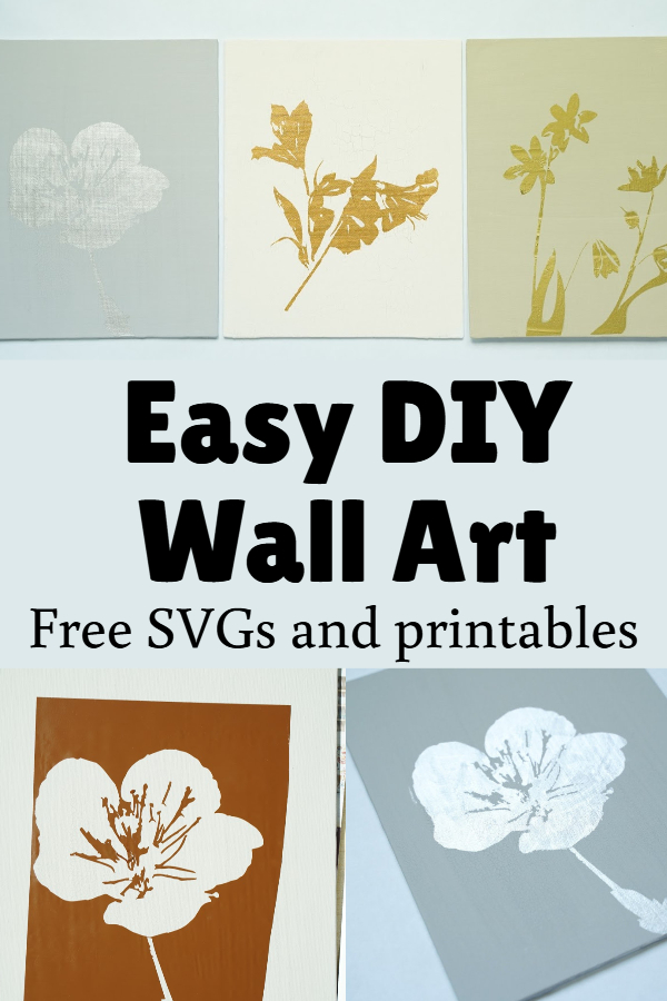 DIY stencil on canvas wall art