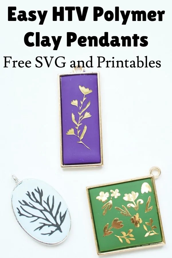 Cricut vinyl clay Jewelry idea