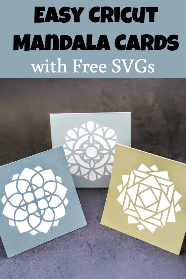 Free mandala card SVG
