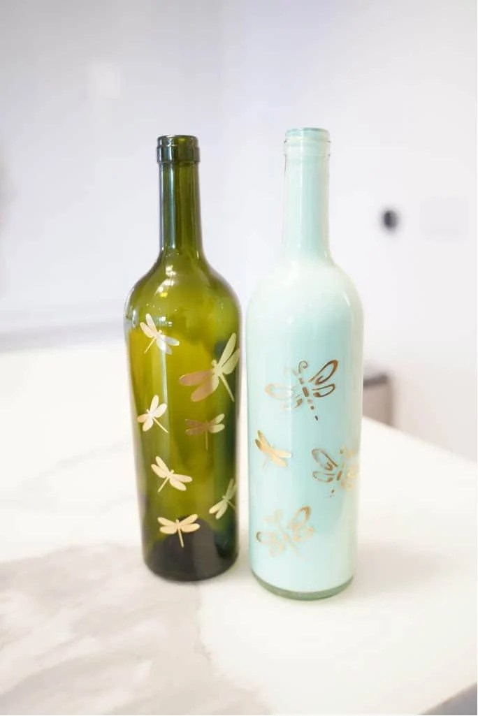can you use acrylic paint on wine bottles