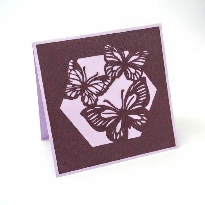 Butterfly cutout card