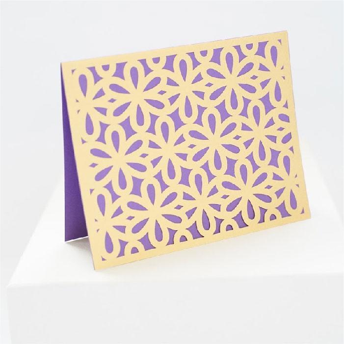 Floral geometric pattern card