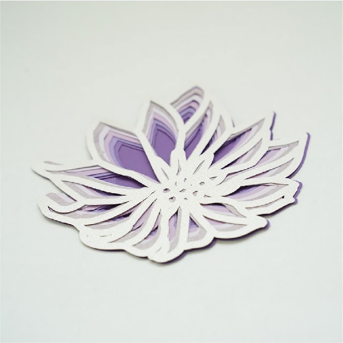 Wild flower 3d mandala