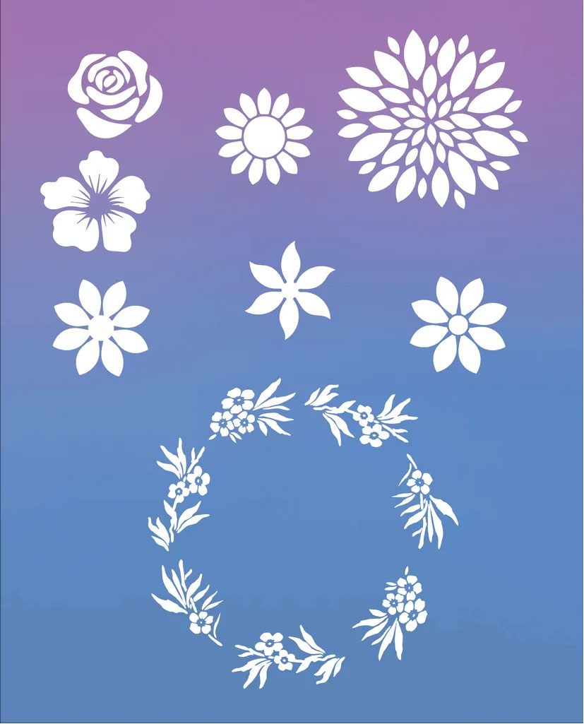flower stencil printable