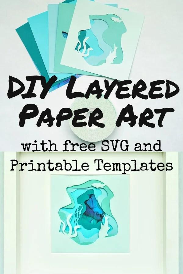 dimensional paper layering art