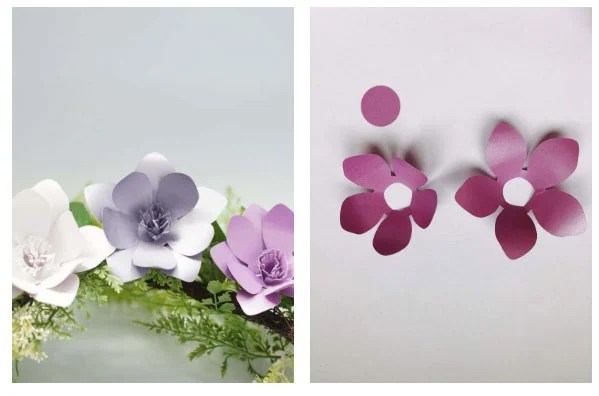 simple paper flower templates