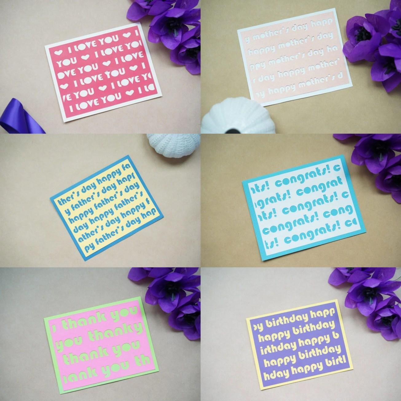 free cricut card templates