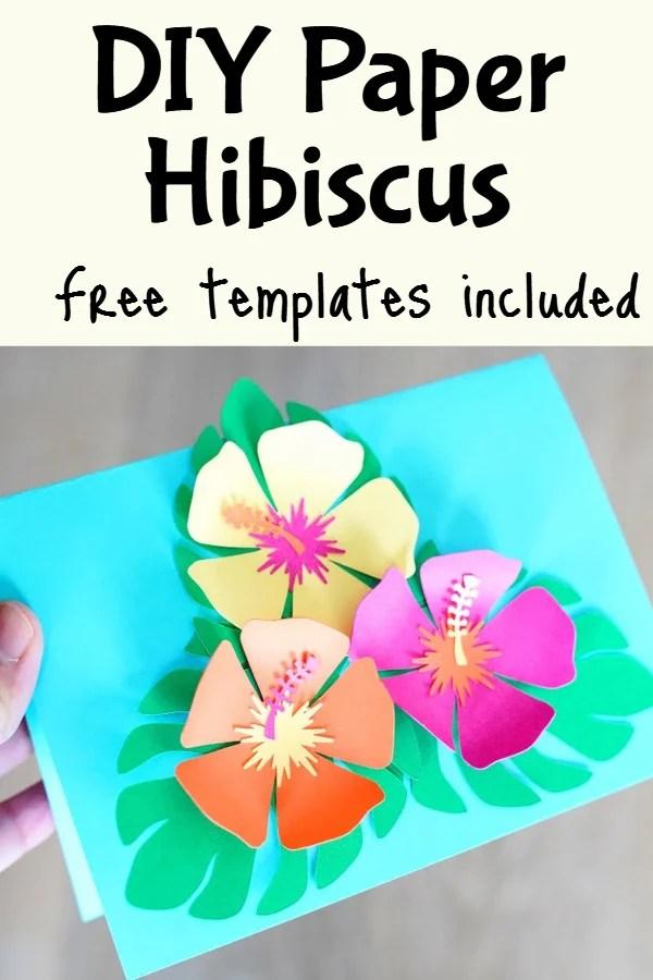 paper hibiscus flower