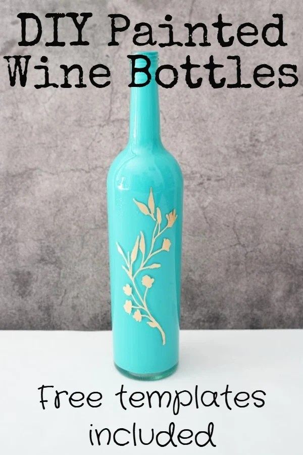 how to paint wine bottles