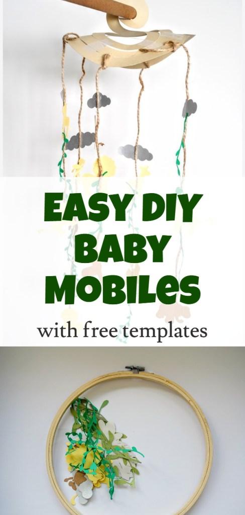 DIY boho chic and animal safari baby mobile
