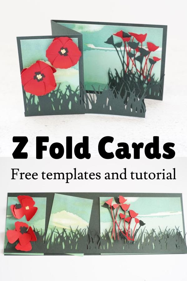 z fold card ideas