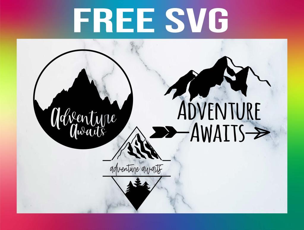 Free Adventure Awaits SVG