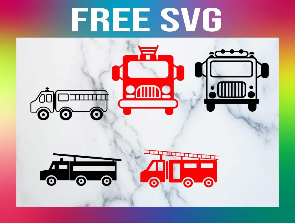 Free Fire Truck SVG