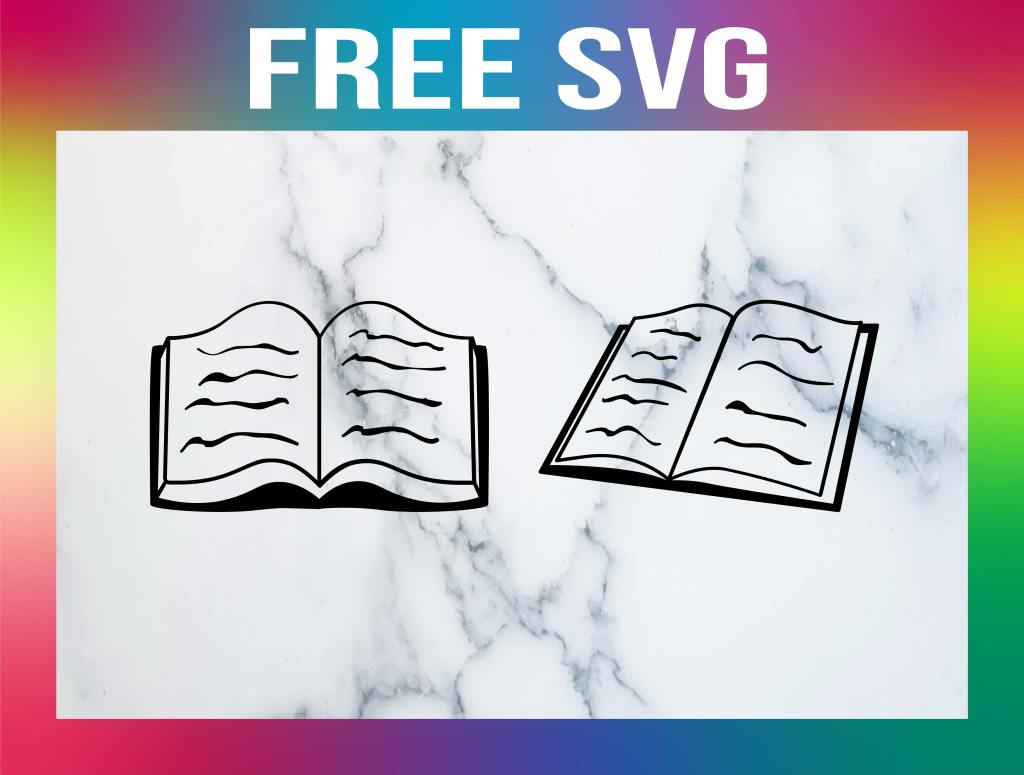 Free Open Book SVG