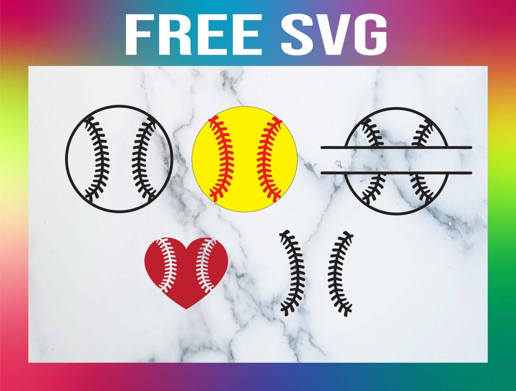 Free Softball SVG