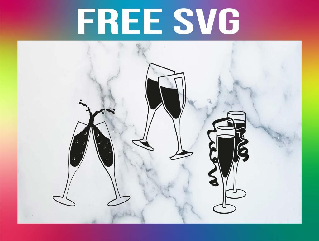 Free Champagne Glass SVG