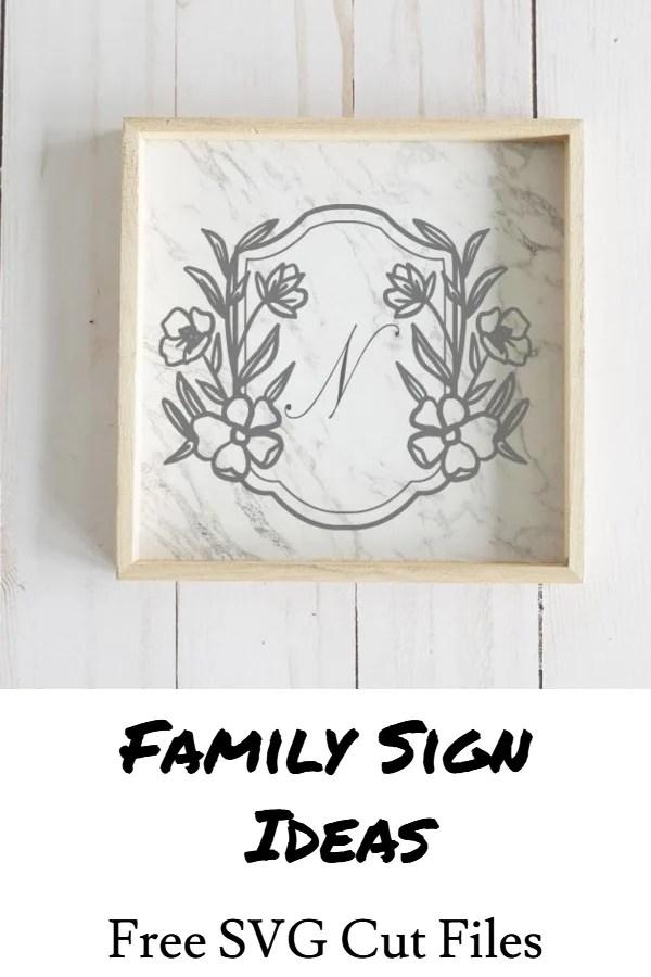 family sign ideas