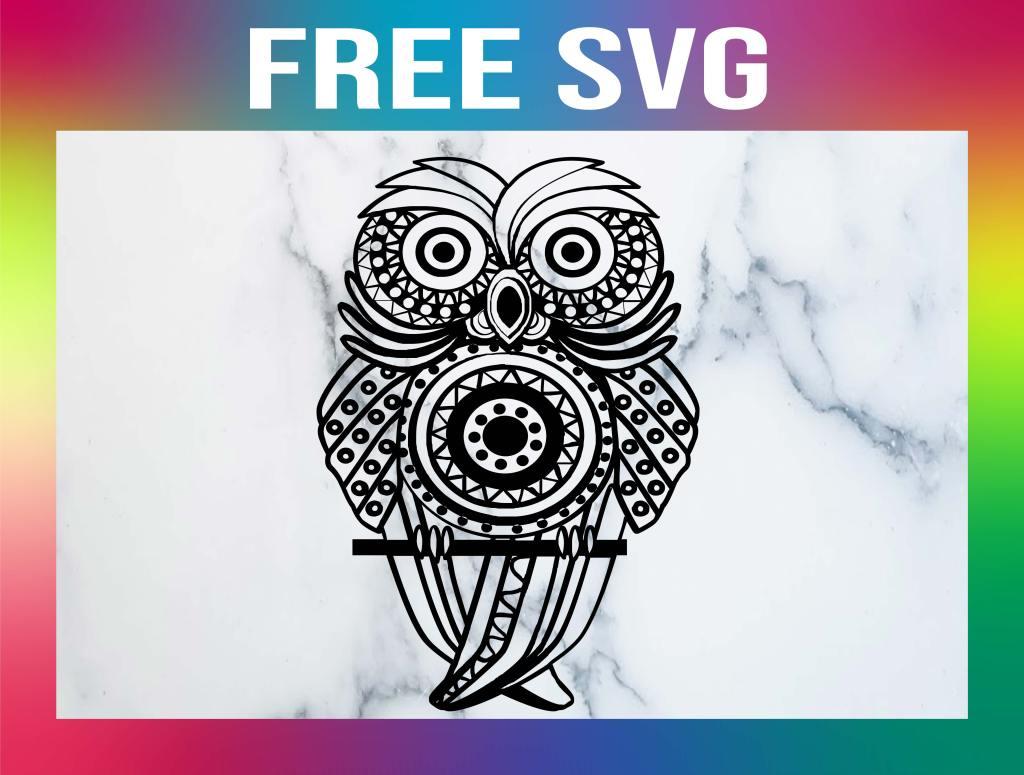 Free Owl Mandala SVG