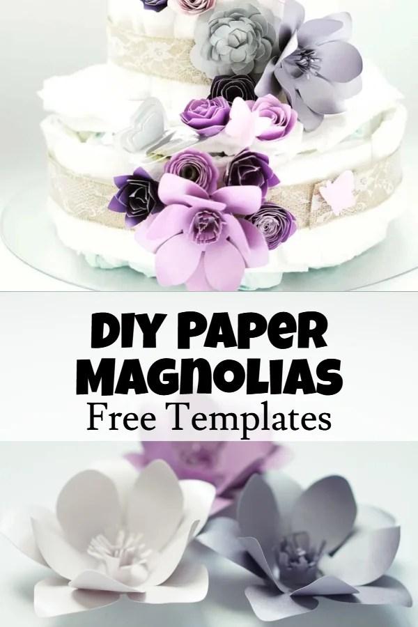 paper magnolia template free