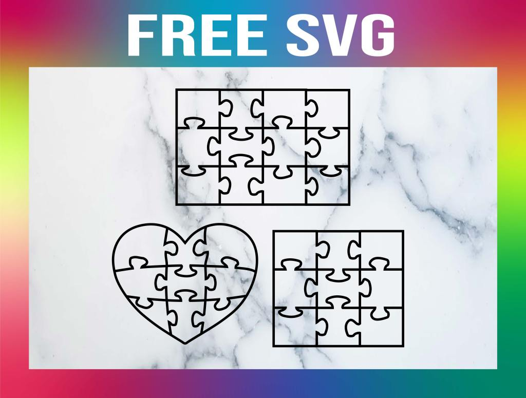 Free Puzzle Pieces SVG
