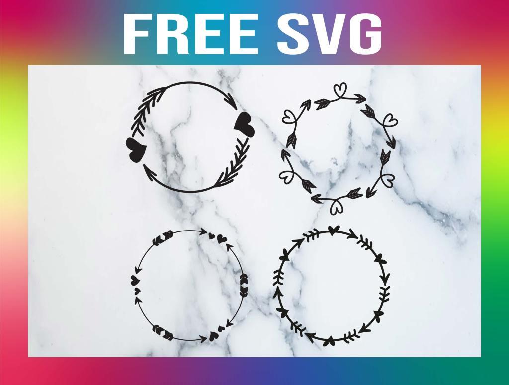 free circle wreath svg