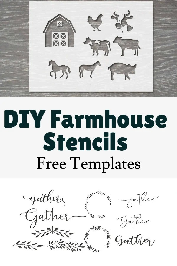 farm animal stencils printable