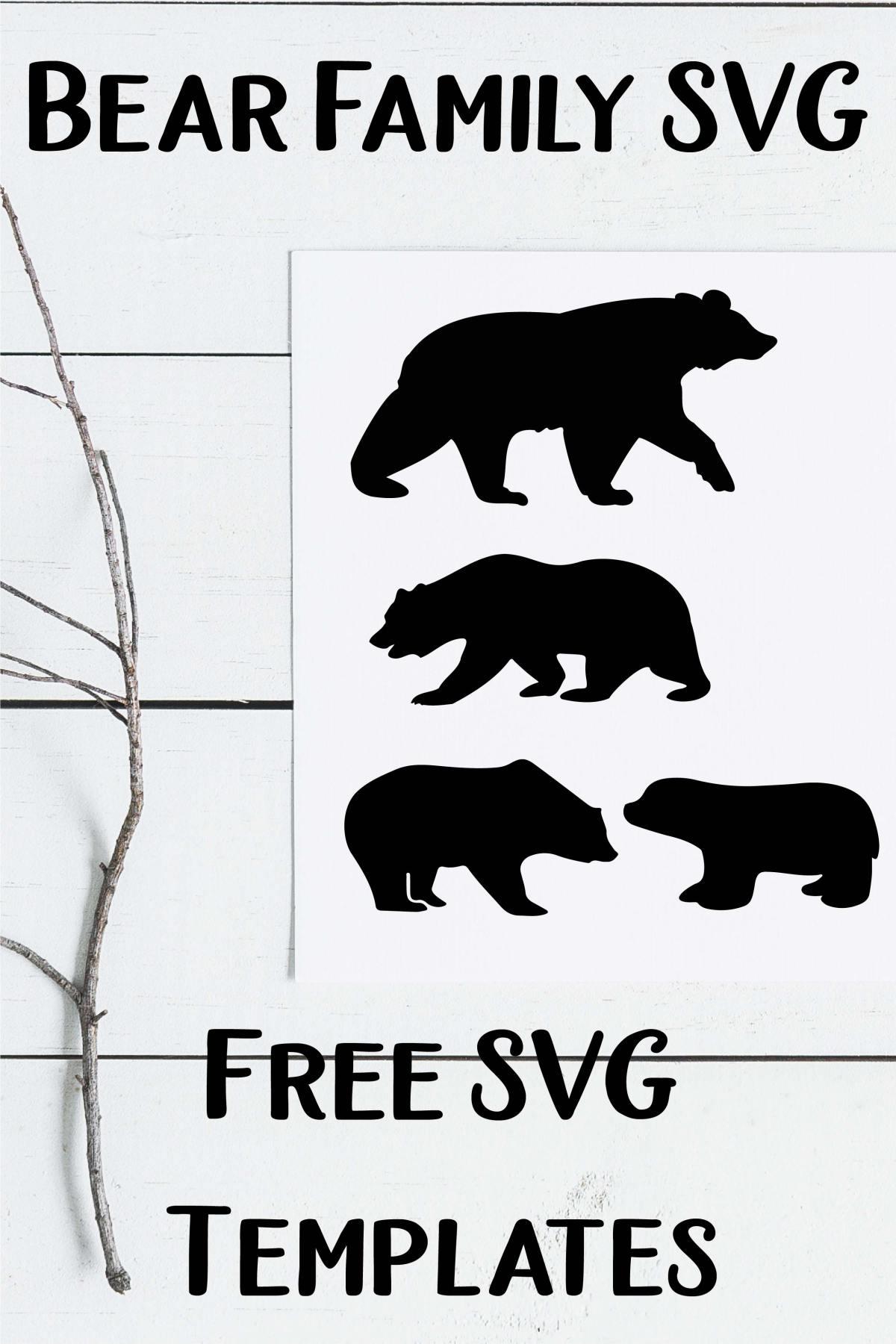 free bear family svg