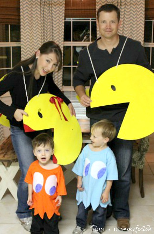 Pac Man Costume Diy : costume, Pac-Man, Family, Costume, Domestic, Imperfection