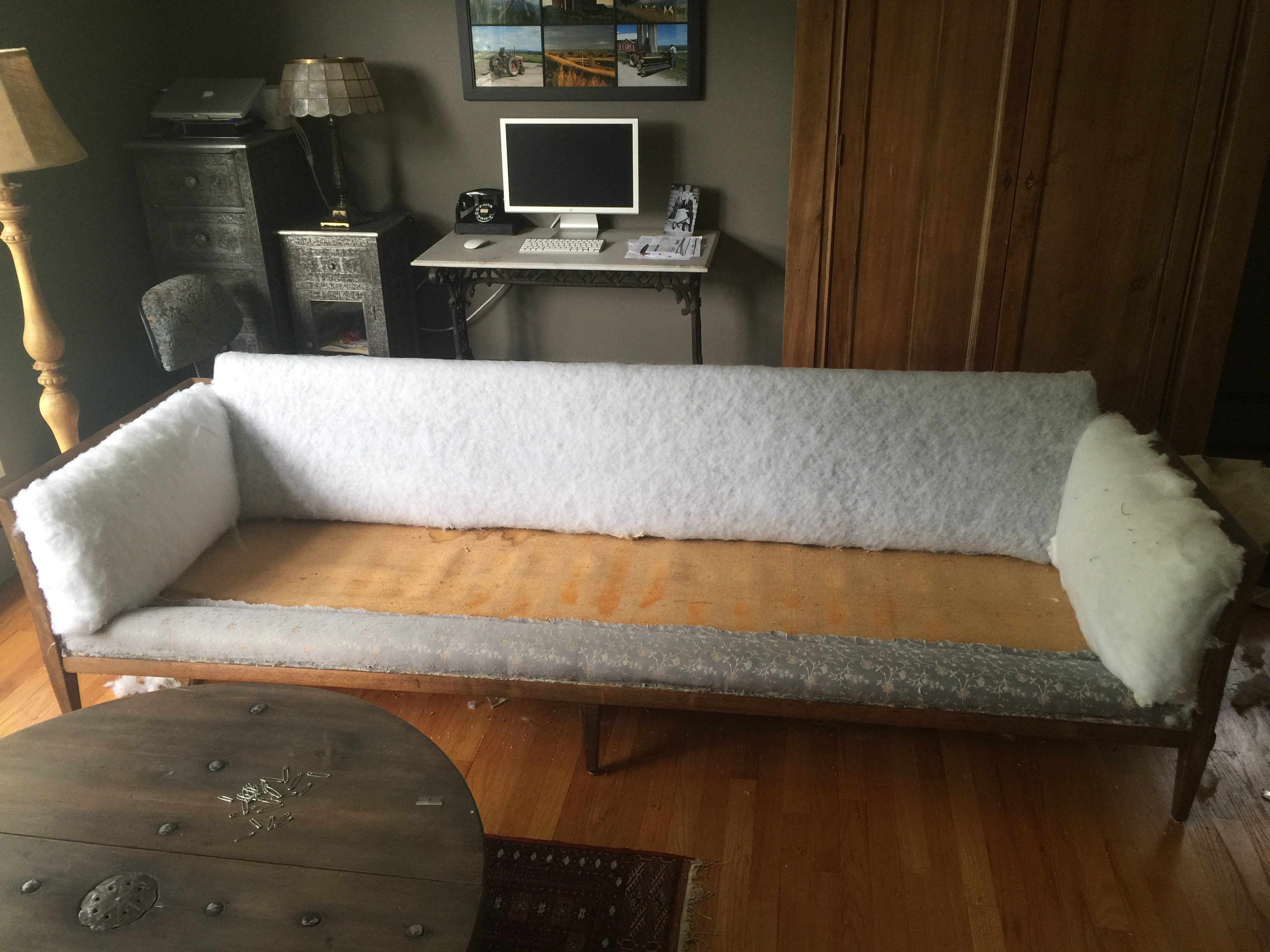 diy how to reupholster a sofa aloworld 399 sofas re upholstering part iii taking it apart and