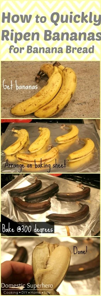 How To Quickly Ripen Bananas For Banana Bread Domestic