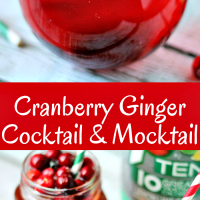 Cranberry Ginger Cocktail & Mocktail