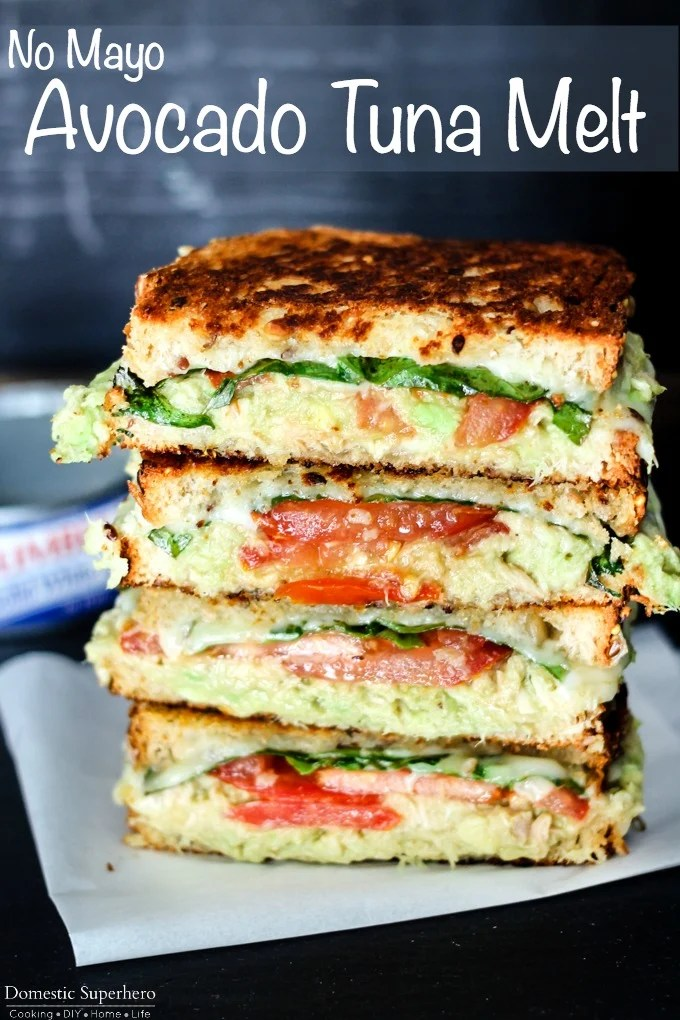 AVOCADO TUNA MELT - DOMESTIC SUPERHERO