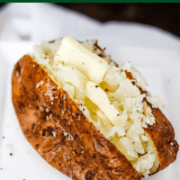 Air Fryer Baked Potatoes (easiest method)
