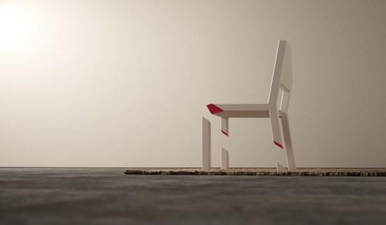 krzesło z jedną nogą