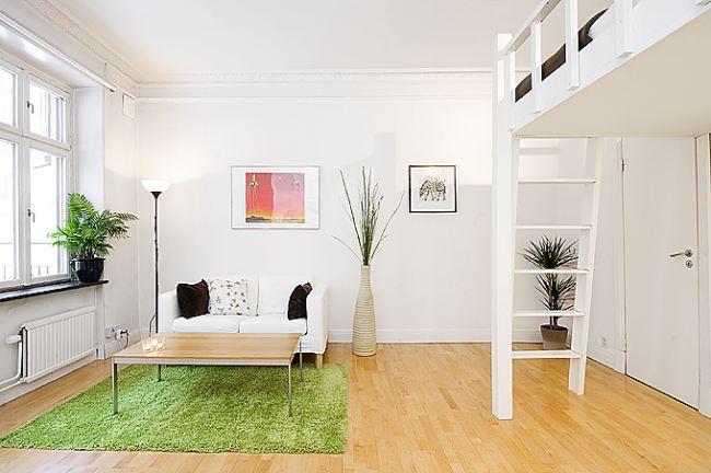 Mały apartament w stylu skandyanwskim