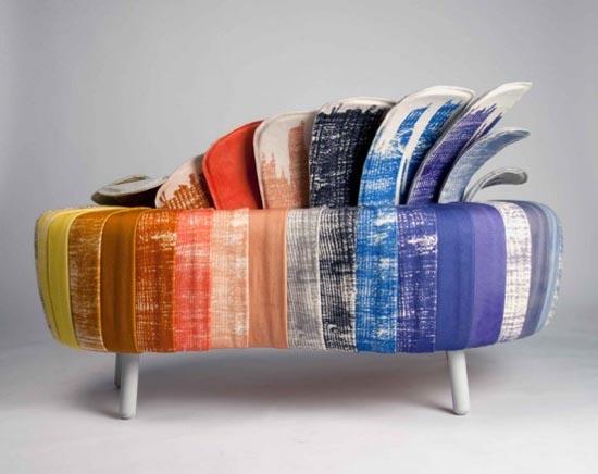 sofa z ogonem pawia