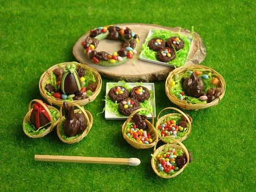 miniaturowe dekoracje wielkanocne