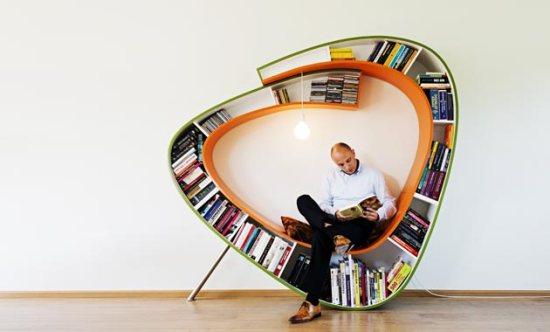nowoczesny regał na książki